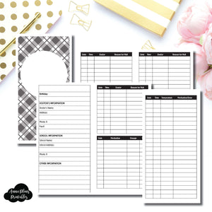 Standard TN Size | KIDS Information Printable Insert ©