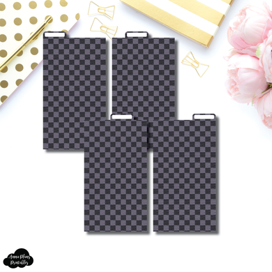 Personal Ring Dividers | Luxe Black 4 Top Tab Printable Dividers