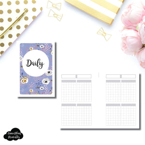 A6 Rings Size | Undated Daily Printable Insert ©