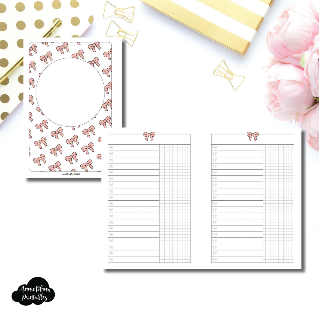 Personal Wide Rings Size | Fox & Pip Collaboration: List + Grid Column Printable Insert ©