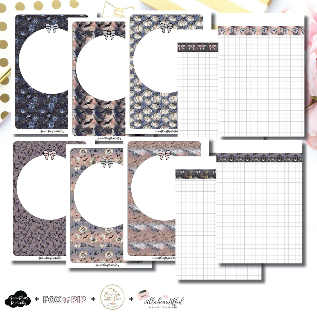 Personal Wide Rings Size | Blank Covers + Undated Grid Collaboration Printable Insert ©