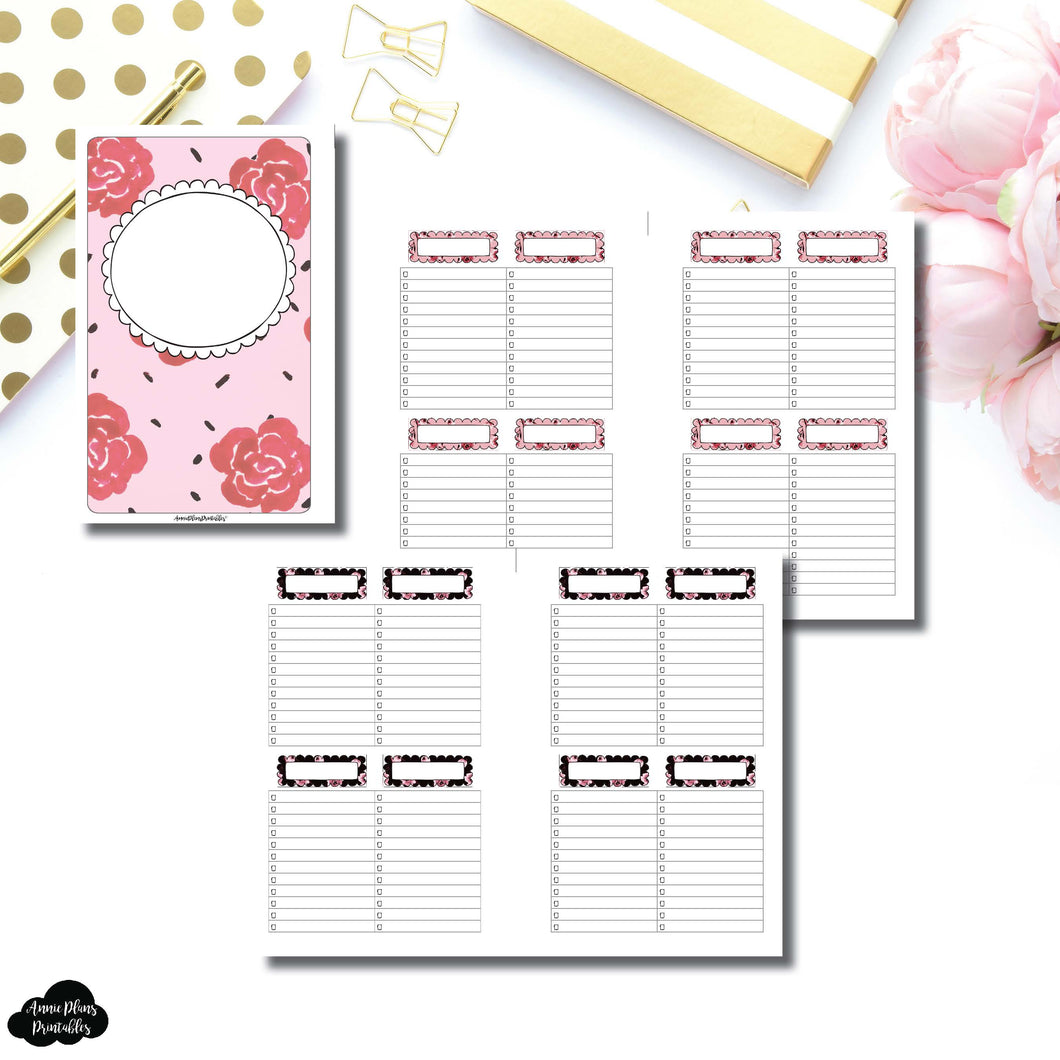 Half Letter Rings Size | Notes & Lists Bundle Printable Inserts ©