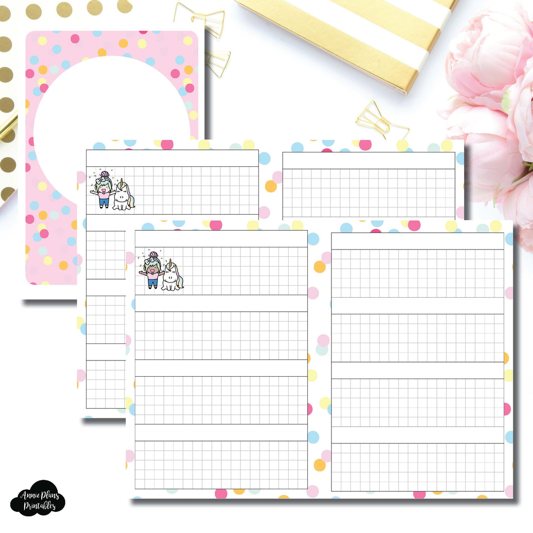 A6 TN Size | ShineStickerStudio Collaboration Printable Insert