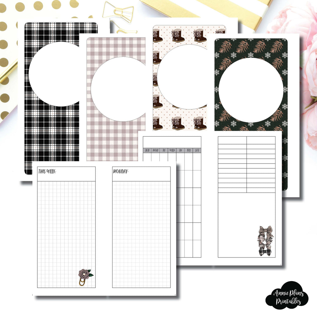 Personal Rings Size | COZY Undated Daily Printable Insert ©