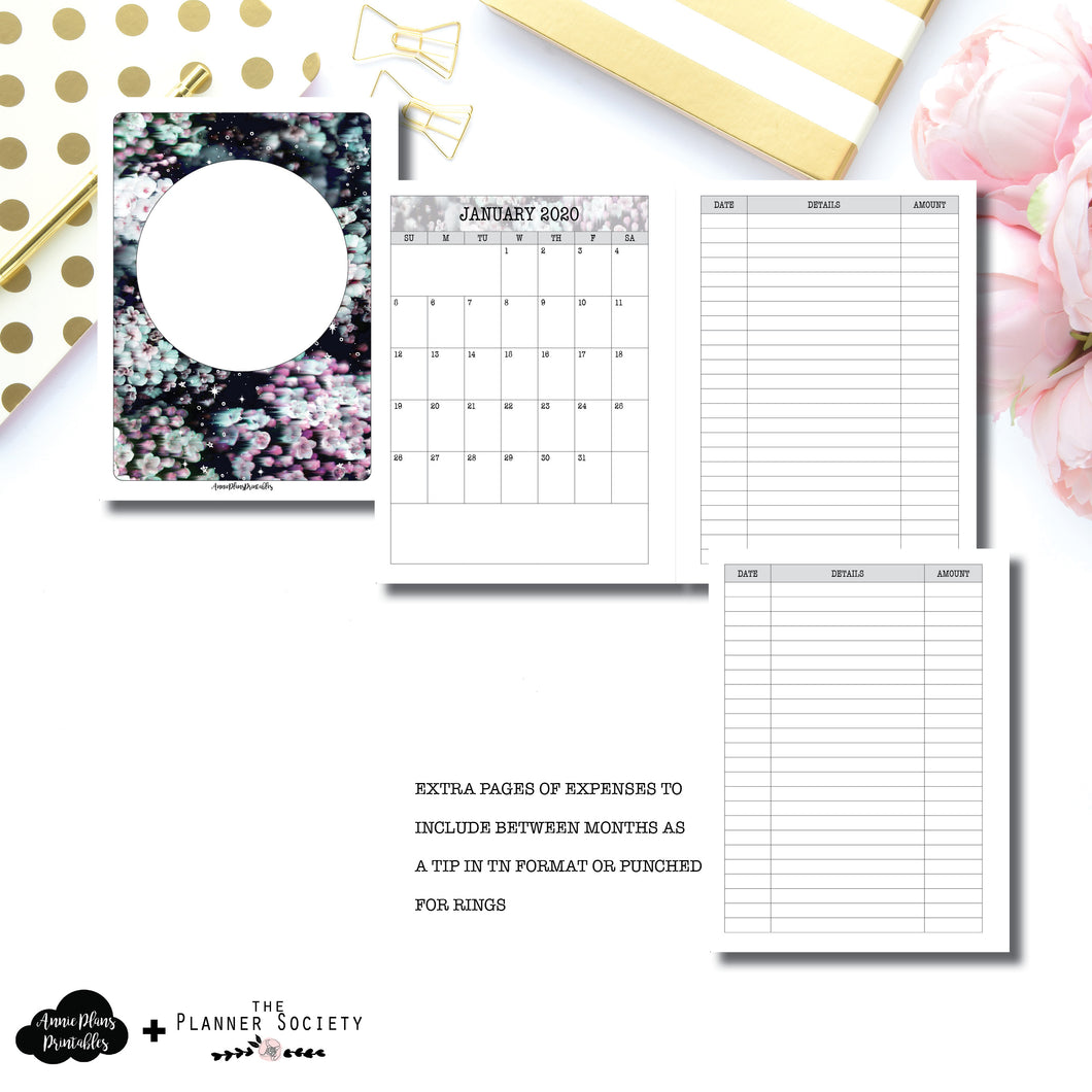 Classic HP Size | LIMITED EDITION: NOV TPS Dated Monthly Expense Collaboration Printable Insert ©