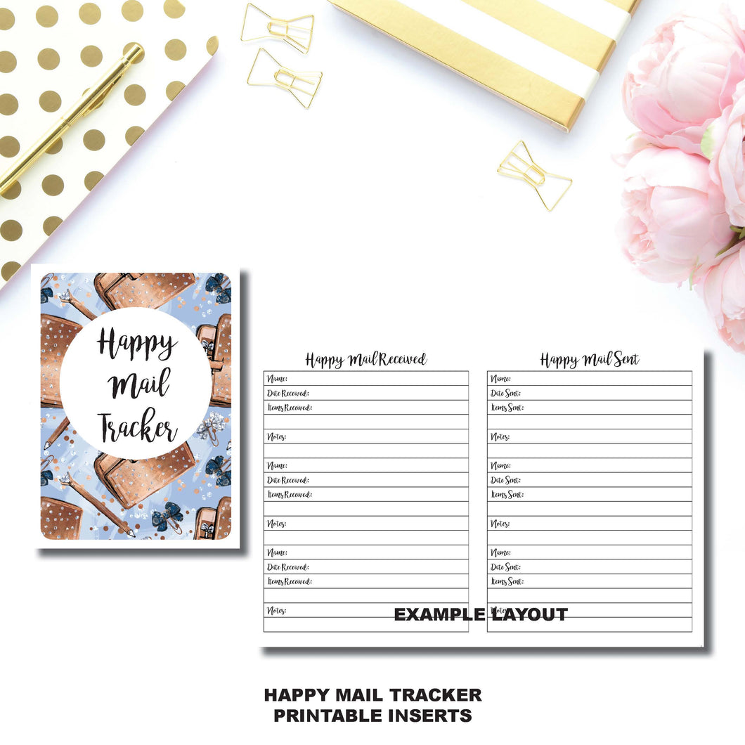 Micro TN Size | Happy Mail Tracker Printable Insert ©