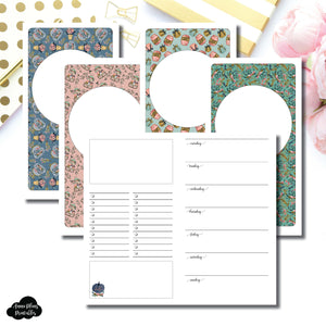 Personal TN Size | Blank Covers + Undated Week on 2 Page Collaboration Printable Insert ©