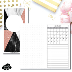 Personal Rings Size | Monthly Dated Important Dates with Dot Grid Printable Insert ©