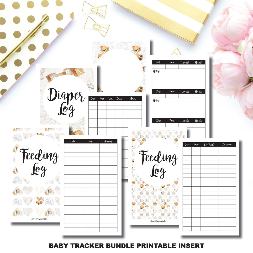 Pocket TN Size | Baby Tracker Bundle | Printable Travelers Notebook Insert ©