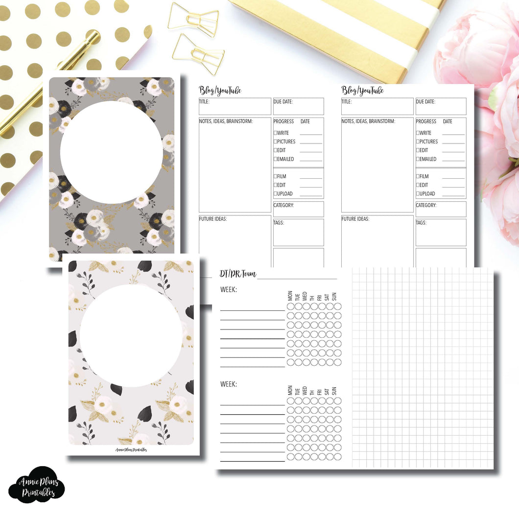 A6 Rings Size | Social Media Tracking Bundle Printable Insert ©