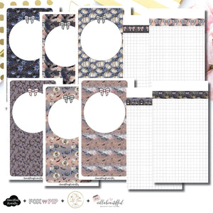 Personal Rings Size | Blank Covers + Undated Grid Collaboration Printable Insert ©