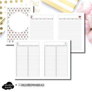 Classic HP Size | TheCoffeeMonsterzCo Collaboration Holiday Notes & Lists Printable Insert ©