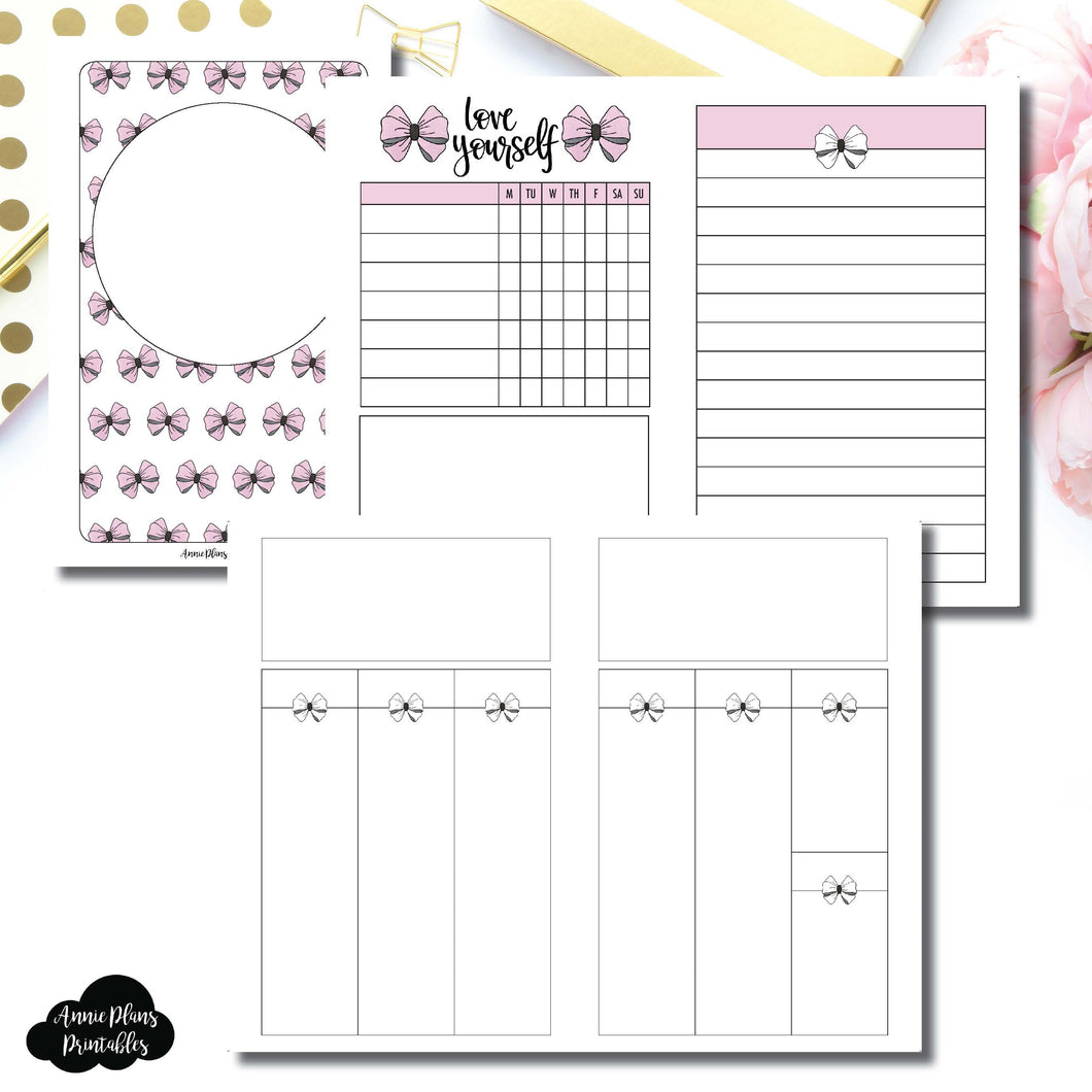 Pocket TN Size | Undated Week on 2 Weeks Shell's Scribbles Collaboration Printable Insert ©