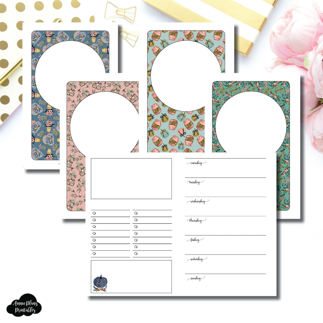 Pocket TN Size | Blank Covers + Undated Week on 2 Page Collaboration Printable Insert ©