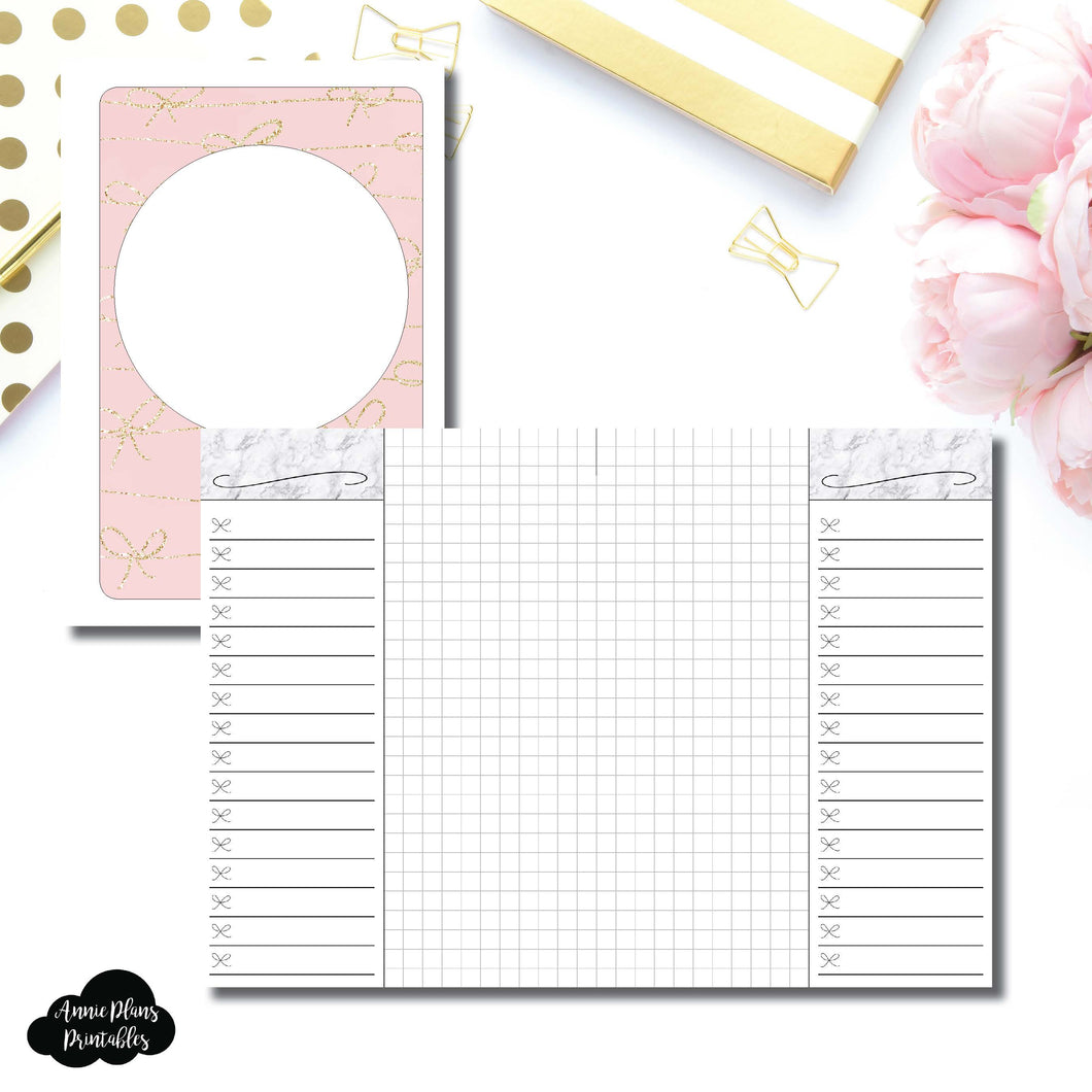 A6 Rings Size | List + Grid Collaboration Printable Insert