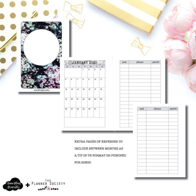 Pocket Plus Rings Size | LIMITED EDITION: NOV TPS Dated Monthly Expense Collaboration Printable Insert ©
