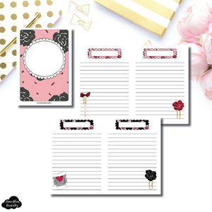 FC Rings Size | Notes & Lists Bundle Printable Inserts ©