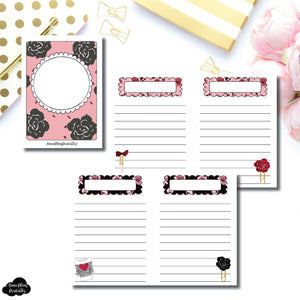 Micro TN Size | Notes & Lists Bundle Printable Inserts ©