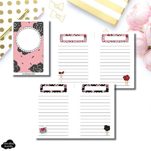 Pocket Rings Size | Notes & Lists Bundle Printable Inserts ©