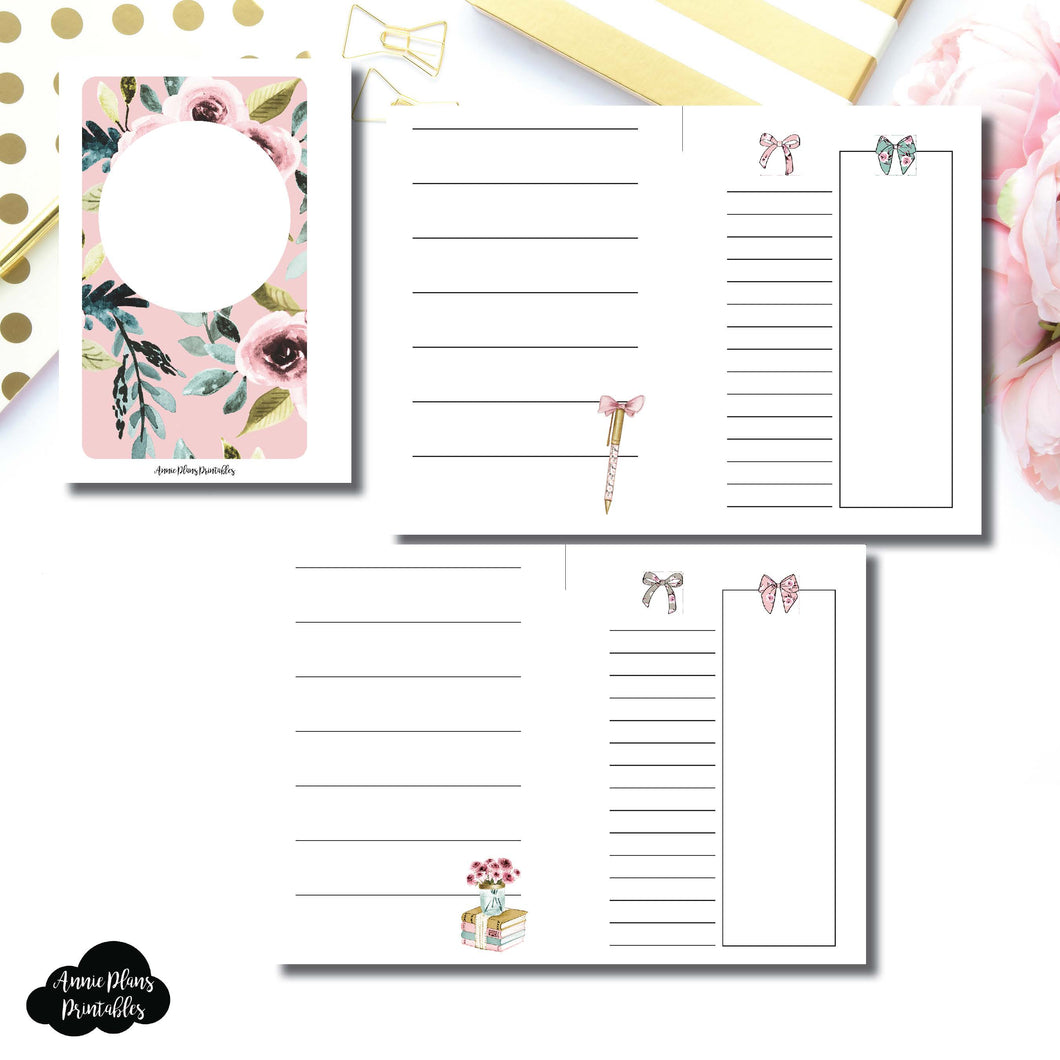 POCKET RINGS Size | Undated Horizontal Week on 2 Page Collaboration Printable Insert ©