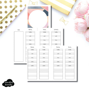 Personal Wide Rings Size | Wellness Tracker Printable Insert ©