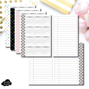 Pocket Plus Rings Size | 2020 Year at a Glance Fold Over Printable Insert ©