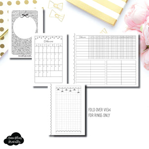 Pocket Rings Size | 15 Month (OCT 2018 - DEC 2019) + Tracker Fold Over EllePlan Collaboration Printable Insert ©
