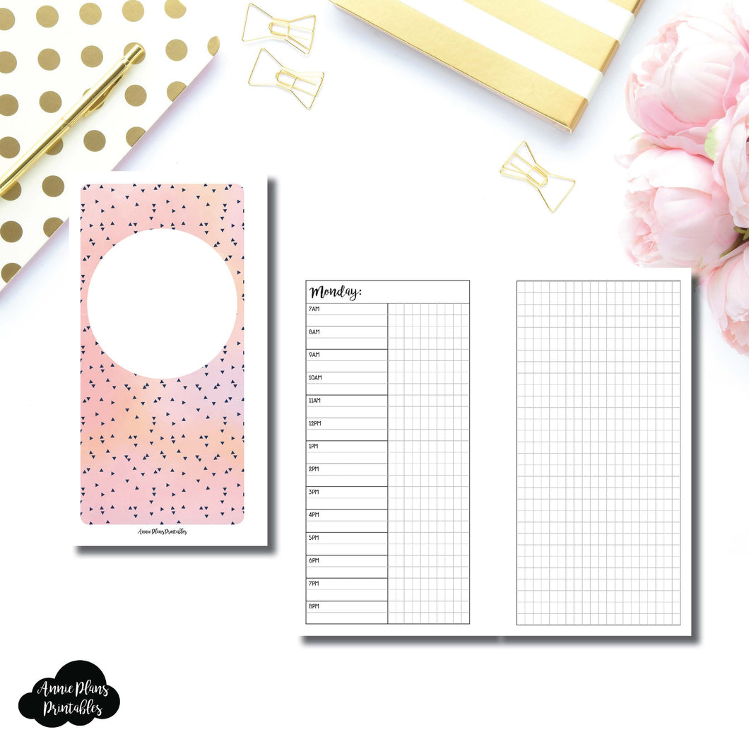 Personal Rings Size | UNDATED Day on 2 Pages Printable Insert ©