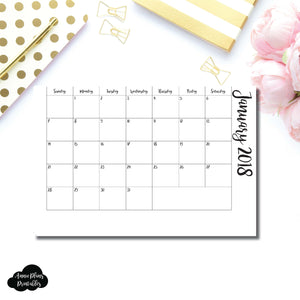 Personal Rings Size | 2018 Monthly Pull Out Printable Insert ©