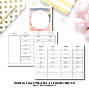 Passport TN Size | Wellness Tracker Printable Insert ©