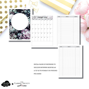 A5 Rings Size | LIMITED EDITION: NOV TPS Dated Monthly Expense Collaboration Printable Insert ©