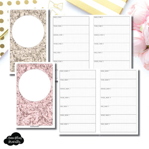 Cahier TN Size | OCT 2018 - DEC 2019 Week on 1 Page Layout (Monday Start) Printable Insert ©