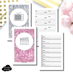 Half Letter Rings Size | TV & Movie Tracker Bundle Printable Insert ©