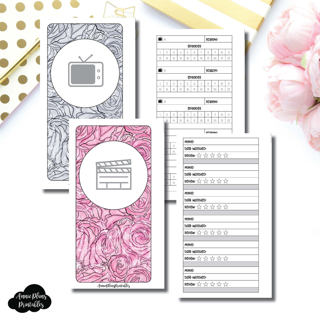 PERSONAL RINGS Size | TV & Movie Tracker Bundle Printable Insert ©