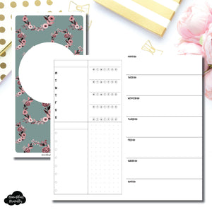 Standard TN Size | Undated Horizontal Week on 2 Page Layout Printable Insert ©