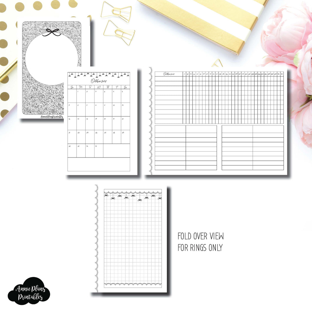 A6 Rings Size | 15 Month (OCT 2018 - DEC 2019) + Tracker Fold Over EllePlan Collaboration Printable Insert ©