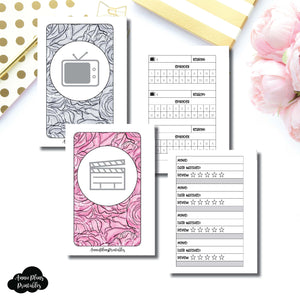 POCKET RINGS Size | TV & Movie Tracker Bundle Printable Insert ©