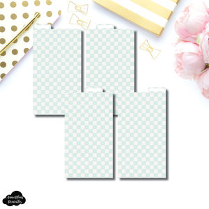 Personal Ring Dividers | Luxe Mint 4 Top Tab Printable Dividers