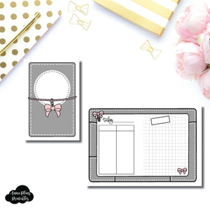 A6 Rings Size | Day on 2 Page Fox & Pip Collaboration Printable Insert ©