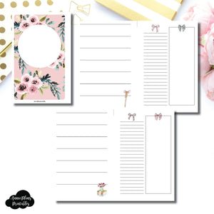 MINI HP Size | Undated Horizontal Week on 2 Page Collaboration Printable Insert ©