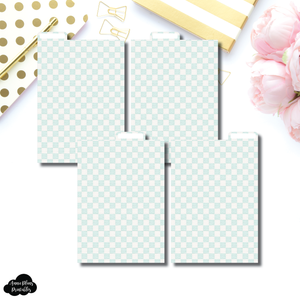 A6 Ring Dividers | Luxe Mint 4 Top Tab Printable Dividers