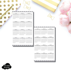 Half Letter Rings Size | 2018 - 2019 Academic Year at a Glance Single Page Printable Insert