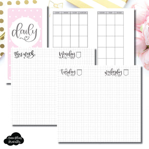 Personal Rings Size | SeeAmyDraw Undated Daily Grid Collaboration Printable Insert ©