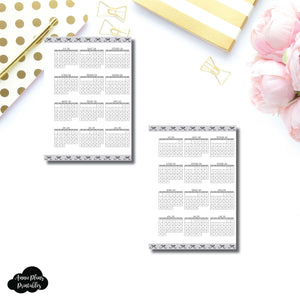 A6 Rings Size | 2018 - 2019 Academic Year at a Glance Single Page Printable Insert