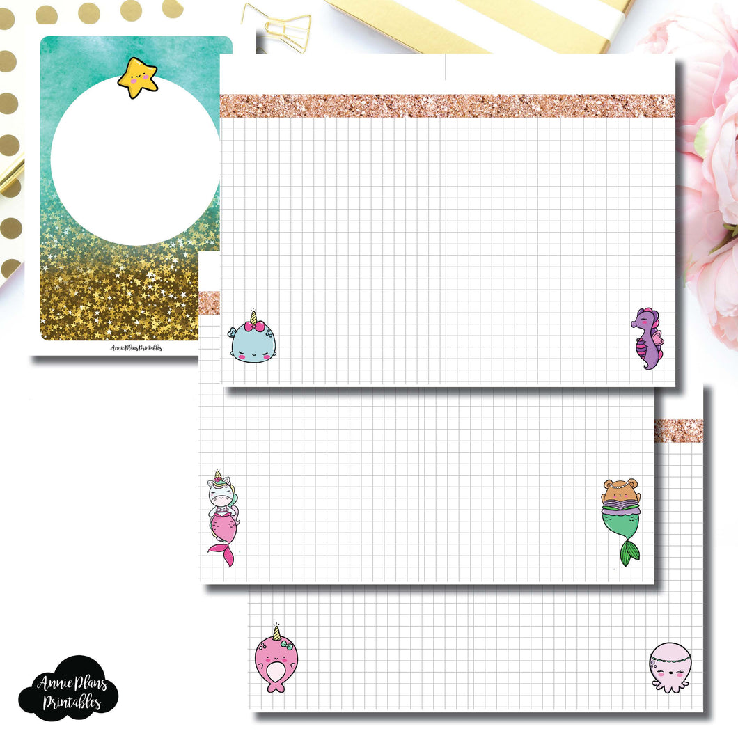A6 Rings Size | MommyLhey Designs Collaboration Plain Grid Printable Insert ©