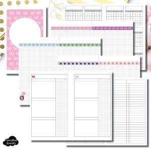 Half Letter Rings Size | Magical Plans Collaboration Printable Insert ©