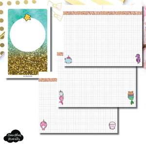 Mini HP Size | MommyLhey Designs Collaboration Plain Grid Printable Insert ©