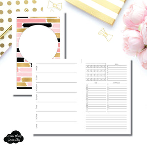 Cahier TN Size | Undated Week on 2 Page with Trackers Printable Insert ©