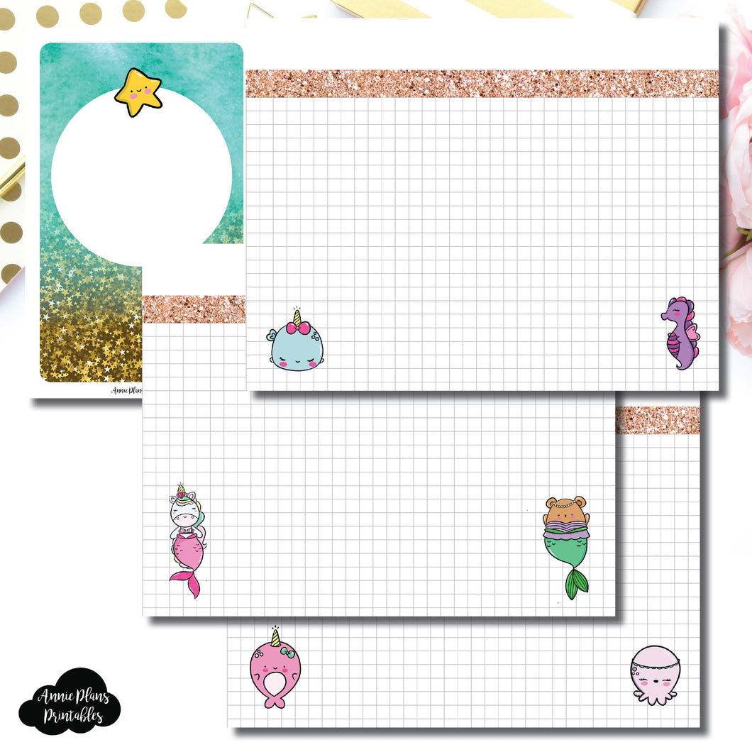 Pocket TN Size | MommyLhey Designs Collaboration Plain Grid Printable Insert ©