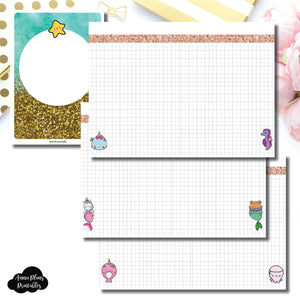 B6 TN Size | MommyLhey Designs Collaboration Plain Grid Printable Insert ©